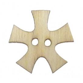 bouton bois fantaisie enfant flocon 15mm