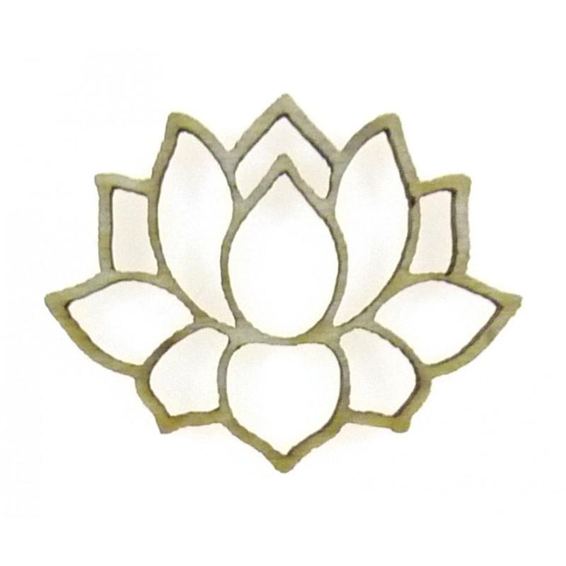 mini sujet en bois brut fleur de lotus ajour e. Black Bedroom Furniture Sets. Home Design Ideas