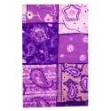 feuille Décopatch motifs violets