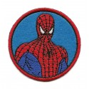 écusson spider-man rond thermocollant