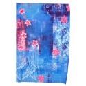 feuille Décopatch bleu à fleurs