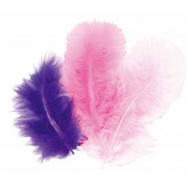 50 plumes d'oiseaux camaieu rose