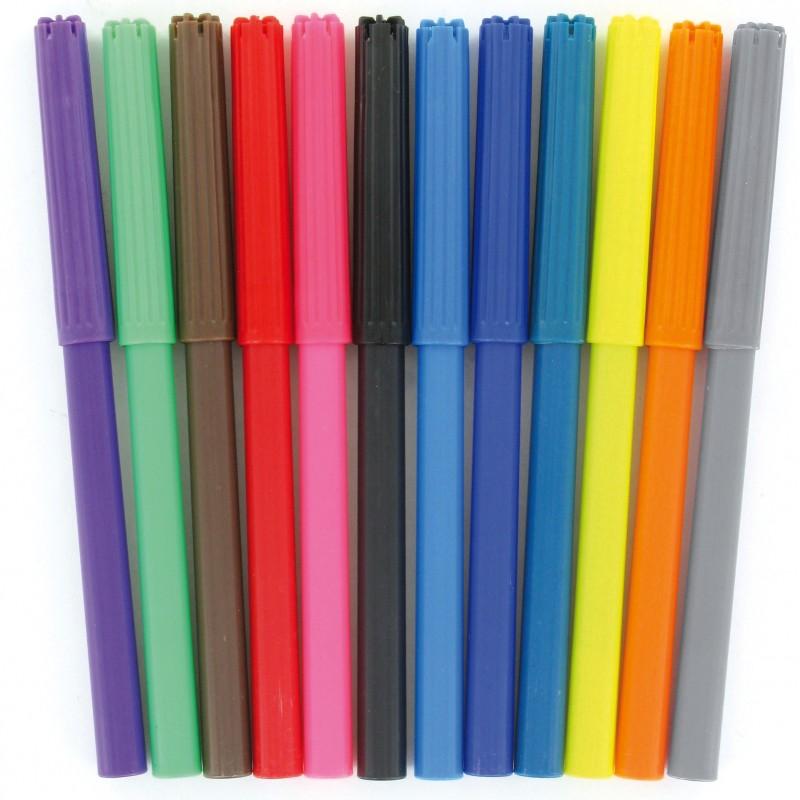 pochette de 12 crayons feutre de couleurs. Black Bedroom Furniture Sets. Home Design Ideas