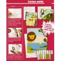 kit 3 cartes sable jungle