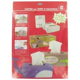 2 couvre boîte à mouchoirs à décorer