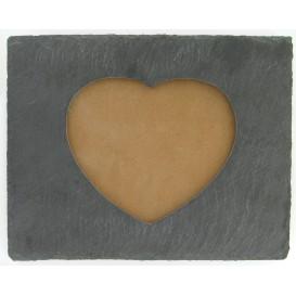 cadre photo ardoise coeur 24x19x4cm