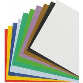 10 feuilles carton ondulé couleurs