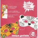masque gonflable tigre 22x11cm
