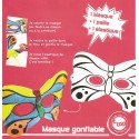 masque gonflable papillon 22x11cm