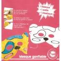 masque gonflable chien 22x11cm