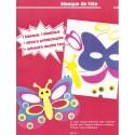 masque caoutchouc à assembler papillon 16,5x11,5cm