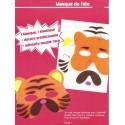 masque caoutchouc à assembler tigre 16,5x14cm