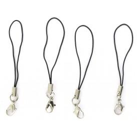 10 attaches gri-gri dragonne noire