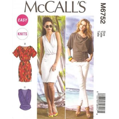 patron hauts et robes McCall's M6752