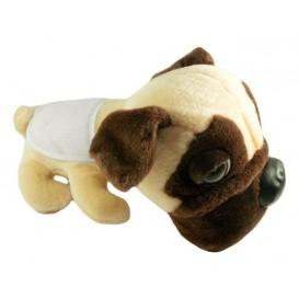 peluche chien pug 28cm avec bavoir à broder