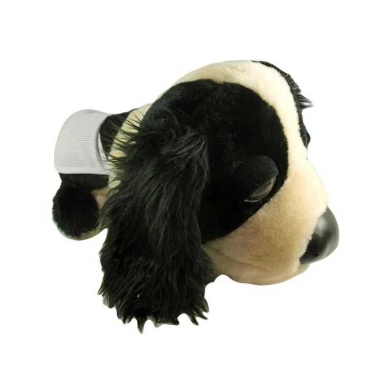 peluche chien cocker 28cm avec bavoir broder. Black Bedroom Furniture Sets. Home Design Ideas