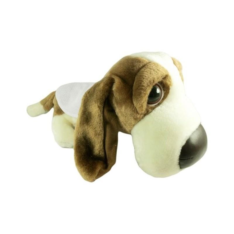 peluche chien basset 28cm avec bavoir broder. Black Bedroom Furniture Sets. Home Design Ideas