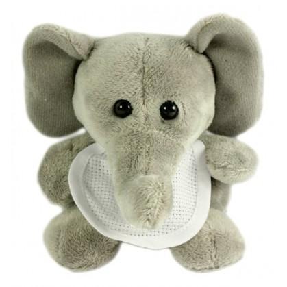 peluche bébé éléphant 12cm avec bavoir à broder
