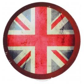 2 pinces déco métal ronde drapeau anglais