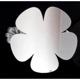 2 pinces déco acrylique miroir fleur