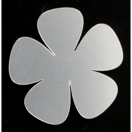 3 fleurs plate miroir acrylique aimant