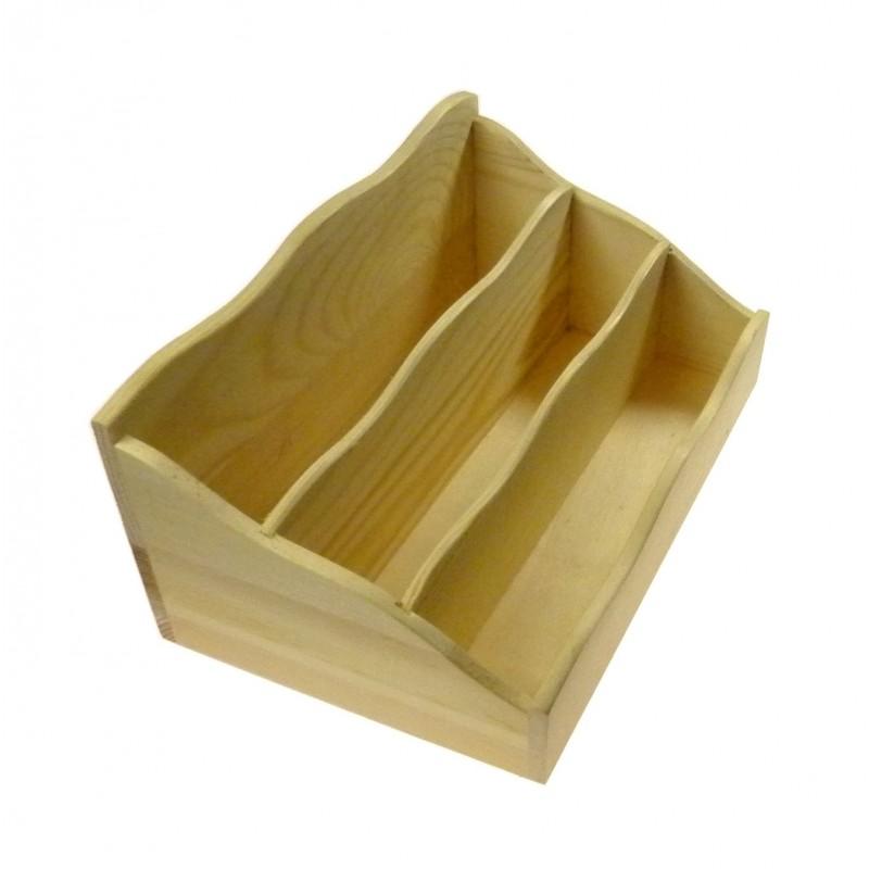 range courrier en bois brut d corer. Black Bedroom Furniture Sets. Home Design Ideas