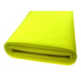 tulle uni jaune fluo au rouleau de 25m