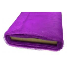 tulle uni violet au rouleau de 25m