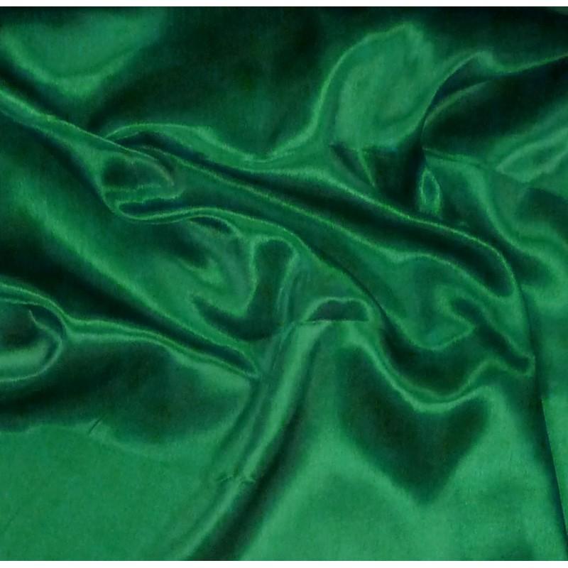 Tissu satin uni pour la confection et d coration www - Couleur vert emeraude ...