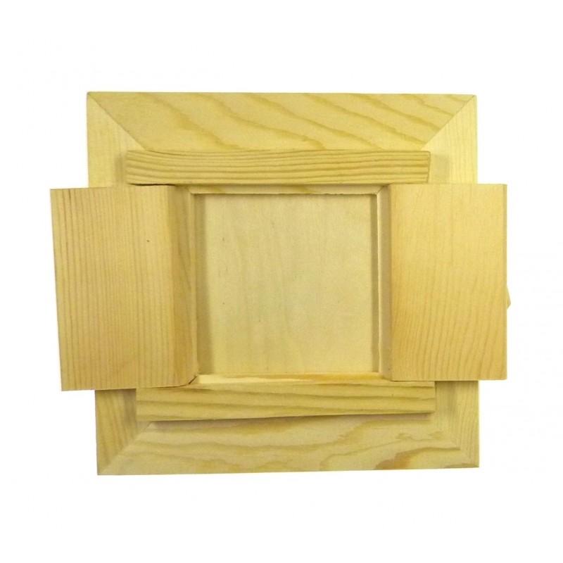 Cadre photo en bois sous vitre fen tre d corer for Cadre de fenetre en bois
