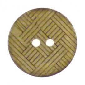 bouton coco rond quadrillage 22mm