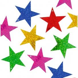 sequins étoiles 5cm métallisées 35grs