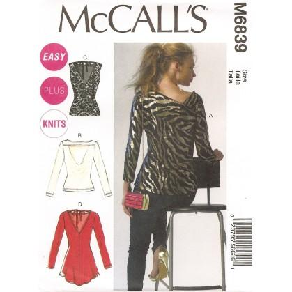 patron hauts et tuniques McCall's M6839