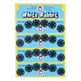 24 boutons pressions plastique 18mm
