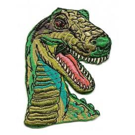 écusson dinosaure tête de t-rex thermocollant
