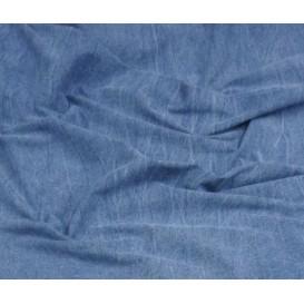 tissu jean coton/spandex bleu largeur 140cm x 50cm