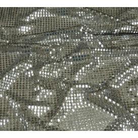 tissu paillettes noir/argent largeur 110cm x 50cm