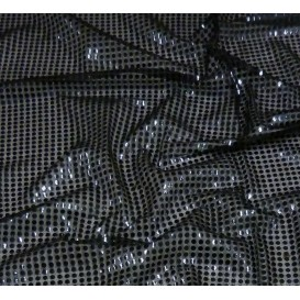 tissu paillettes noir largeur 110cm x 50cm