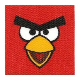 écusson angry birds carré oiseau rouge thermocollant