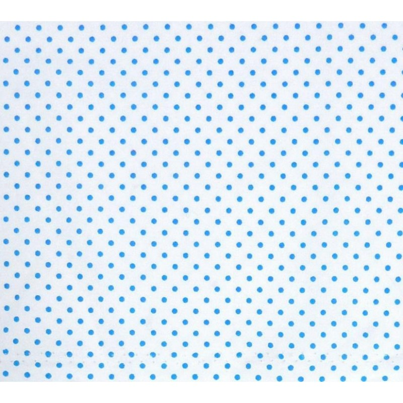tissu coton blanc pois bleu 2mm largeur 150cm x 50cm. Black Bedroom Furniture Sets. Home Design Ideas