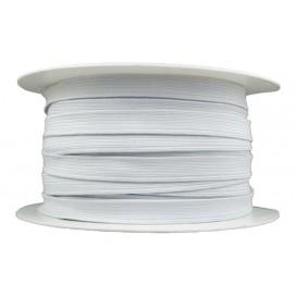 élastique tresse plate blanc à la bobine de 50m