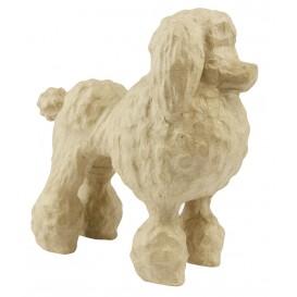 chien caniche papier mâché décopatch 10,5x20,5x18,5cm