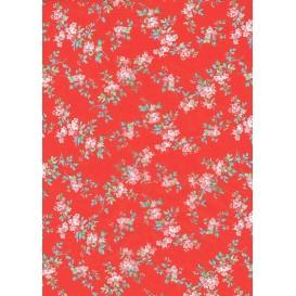 feuille décopatch fleurs rouge