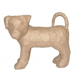 chien terrier papier mâché décopatch 9,5x19,5x16cm