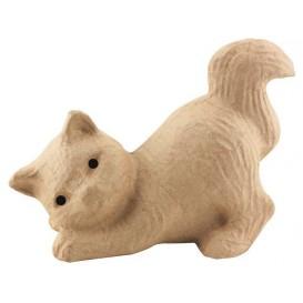 chat songeur papier mâché décopatch 10,5x20x15cm