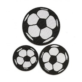 3 écussons ballons de foot thermocollant
