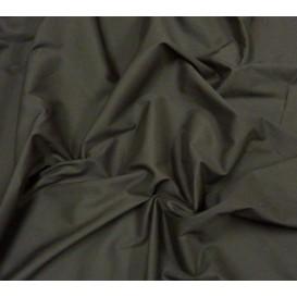 tissu popeline stretch uni chocolat largeur 143cm x 50cm
