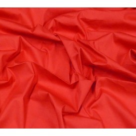tissu popeline stretch uni rouge largeur 143cm x 50cm
