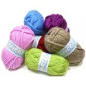 pelote de laine tricot flocon (6 coloris)