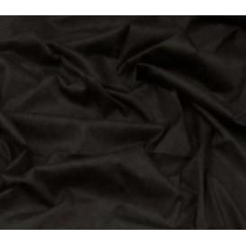 tissu popeline stretch uni noir largeur 143cm x 50cm